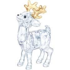 Swarovski Santas Reindeer Figurine, 1-5/8
