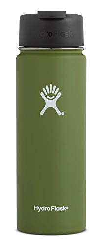 Hydro Flask 20 oz Travel Coffee Flask | Stainless Steel & Vacuum Insulated | Wide Mouth with Hydro Flip Cap | - Mug 20 Ounce Coffee Travel