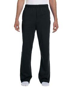 - Jerzees 8 oz NuBlend 50/50 Open-Bottom Sweatpants 974MP black X-Large