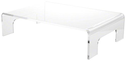 Plymor Brand Clear Acrylic Riser w/Tray Handles, 3