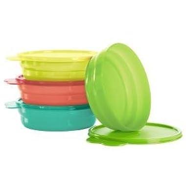 Tupperware Microwave Cereal Bowls In Guava/Lemonade/Salsa Verde/Sea Green