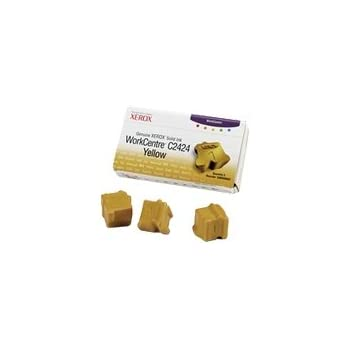 Genuine Xerox Yellow Solid Ink Sticks for the WorkCentre C2424 (3 pcs/Box),  108R00662