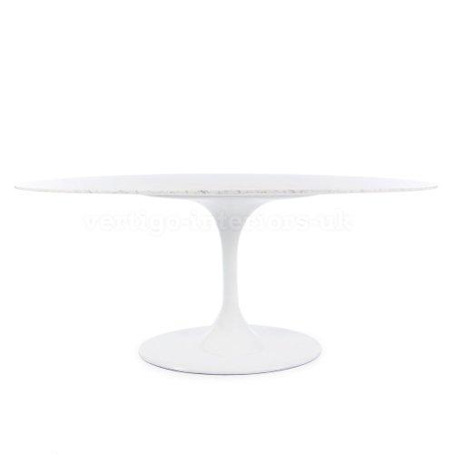 """Eero Saarinen Style Oval Tulip Style Dining Table - Marble 78"""" X 47"""""""