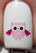 Baby Pink Owl - Nail Decals by YRNails