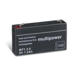 Multipower Bleiakku MP1,2-6 (6V / 1,2Ah), wartungsfrei