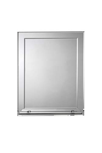 Croydex Rydal Rectangular Mirror with Shelf and Hang N Lock Fitting System, -