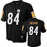 Antonio Brown Pittsburgh Steelers Black NFL Youth 2016-17 Season Mid-tier Jersey (X-large 18/20)
