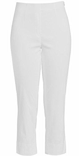 Marie Robell Femme Couleur Ajustée Capri Blanco Élastique Coupe 07 10 Pantalon rrd1q