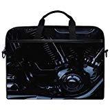 Engine Harley Davidson Motorcycle Messenger Bag Case Sleeve for 14 Inch to 15.6 Inch with Adjustable Notebook Shoulder Strap ()