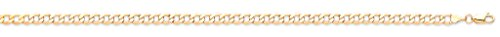 Chaîne gourmette en or jaune 9carats Bracelet 17,8cm