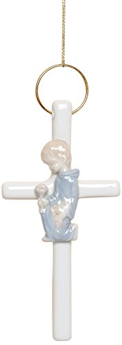 Cosmos R8001J First Communion Boy Cross Figurine, 5-Inch, Blue