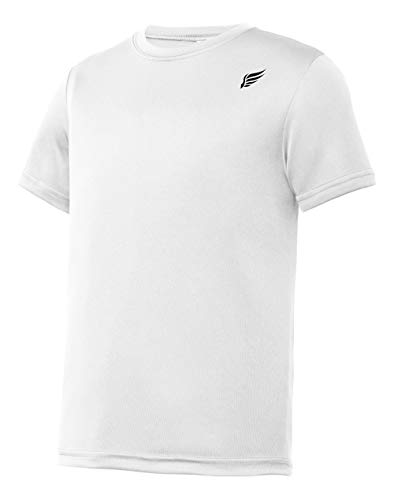 MI Falcon Boys' Top Performance T-Shirt White Youth X-Small (4)