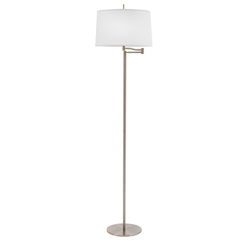 Fangio Lighting 14290FSWBS 62 Inch Metal Swing Arm Floor Lamp in Brushed Steel