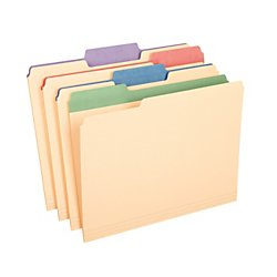 Assorted Color 12 Tab - Pendaflex 1/3 Cut 3/4-Inch Letter Manila File Folders with Assorted Color Tabs, 12-Pack (PFX84100)