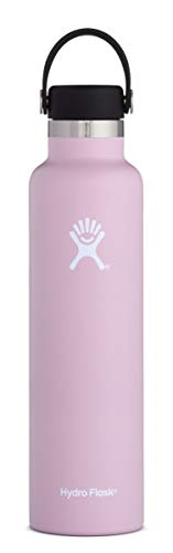 (Hydro Flask 24 oz Water Bottle | Stainless Steel & Vacuum Insulated | Standard Mouth with Leak Proof Flex Cap | Lilac)