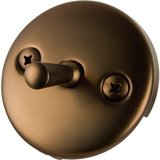Monogram Brass Waste and Overflow Trip Plate Oil Rubbed Bronze