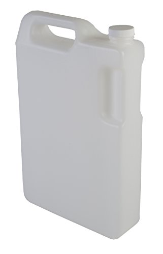 Hudson Exchange 5 Liter Hedpak Container with Cap, HDPE, Natural by Hudson Exchange