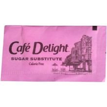 Cafe Delight Pink Saccharin Packets .8 Grams, 3000