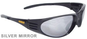 - Dewalt DPG56B-6C Ventilator Black Frame Silver Mirror High Performance Protective Safety Glasses with Wraparound Frame