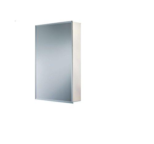 Jensen B72338501X Bevel Mirror Medicine Cabinet, 16'' x 22'' by Jensen