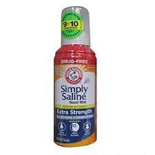 Simply Saline Nasal Mist 3 oz (Pack of 6) by Simply Saline
