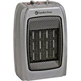 Comfort Zone CZ442 Ceramic Heater (Silver)
