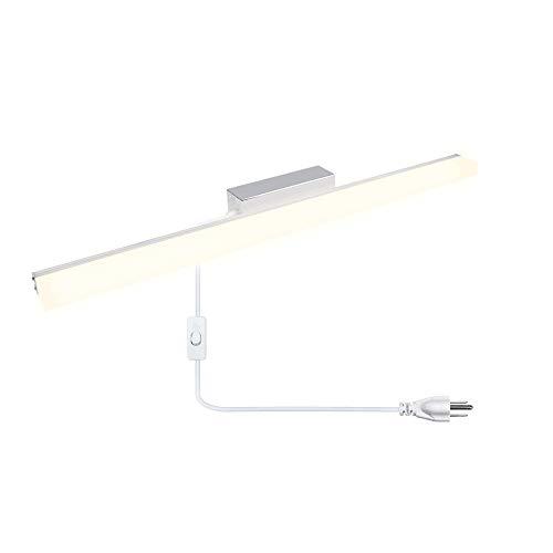 LED Vanity Bathroom Wall Light, Lustaled 22.4 Inch Rectangle Vanity Mirror Lights -