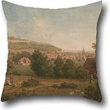 Pillowcase Of Oil Painting Arthur Nelson - Landscape, With Dover Castle In The Distance 20 X 20 Inches / 50 By 50 Cm,best Fit For Car Seat,wedding,dining Room,wedding,play Room Twin Sides