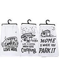 Primitives by Kathy Kitchen Towel Bundle - Happy Campers, for sale  Delivered anywhere in USA