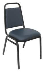 - KFI 5VXY7 Stack Chair, Navy Vinyl