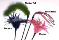 Monkey Teaser Tail - Cats Claw Inc Jumbo Monkey Tail Teaser 30 inch Wand
