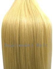 Clip-In-Extensions für komplette Haarverlängerung - hochwertiges Remy-Echthaar - 120 g - 50 cm - Weißblond - 613