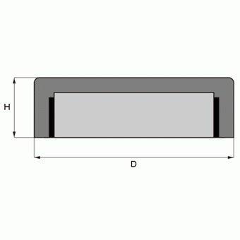 verzinkter Stahltopf h/ält 60 kg Magnet Gewindebuchse verwendbar bis 200/°C Zink Ferrit Flachgreifer /Ø 80,0 x 18,0 mm