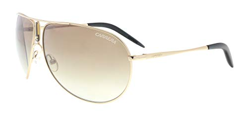 - Carrera Gipsy Aviator Sunglasses,Gold Semi Shiny Frame/Brown Gradient Lens,one size
