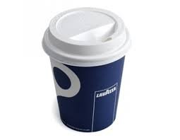 100 X Lavazza Large 12oz Paper Cups + sip lids