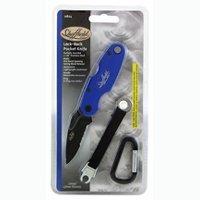 Sheffield 12824 Lock-Back Pocket Knife, Blue - Friction Saw Blades