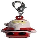 Mirage Pet Products Hand Painted Christmas Bell Charm Santa