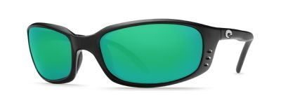 Costa Del Mar Brine Sunglasses, Black, Green Mirror 400G - Lenses Del Mar Costa