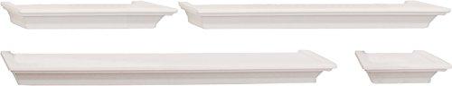 Kiera Grace Classic Multi Length Shelves, White, Set of 4