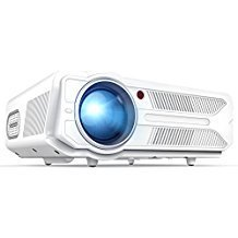 DBPOWER RD-819 Projector, 3200 Lumens LCD Video Projector, Multimedia Portable Home Theater Projector Support 1080P HDMI USB SD VGA AV for Home Cinema TV Laptop Game iPhone Andriod by DBPOWER