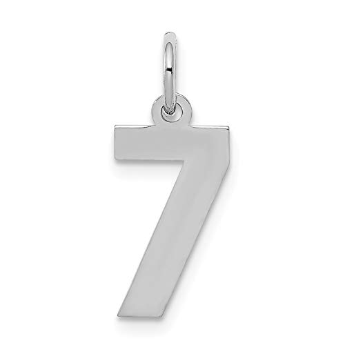 925 Sterling Silver Small Number 7 Pendant Charm Necklace Sport Fine Jewelry Gifts For Women For Her