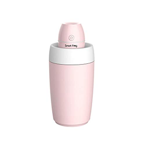 Smart Frog Portable Mini USB Car Humidifier Cool Mist Humidifier Air Purifier for Room and Car with Water Bottle (Pink)
