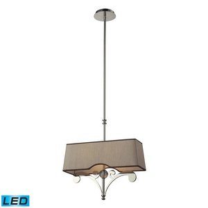 ELK 31254/2-LED, Linear Pendants 1 Tier Chandelier Lighting, 2 Light LED, Polished Nickel