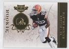 Buster Skrine #23/50 (Football Card) 2011 Plates & Patches - [Base] - Infinity Gold #191