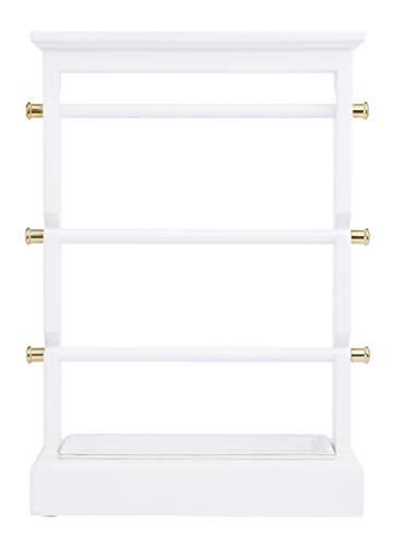 - West Emory Estate Collection Golden Accent Four Level Jewelry Stand for Vanity and Dressing Table
