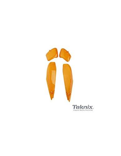 x4 Cabochon Lampeggiante MBK Booster NG 1998-2007 Arancione