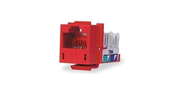 CAT6 Pack of 25 HXJ RED HUBBELL HXJSC6R Jack SPEEDCHANNEL