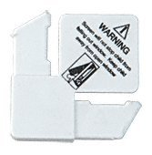 CRL 5/16'' White Square Cut With Lift Tab Plastic Screen Frame Corner With Warning - 100 Pack