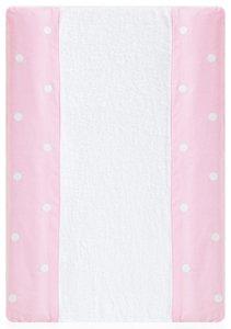 Kinder Romantic–Wickelauflage Bad, 50x 70cm, Farbe: weiß/pink