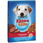 Kibbles Dog Food 16 LB (Pack of 4) by Kibbles 'n Bits